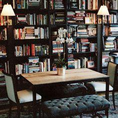 """Cozy Library #RyanKorbanInteriors"""