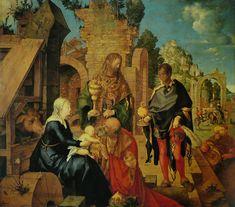 Adoration of the Magi / Adoración de los Reyes Magos // 1504 // Albrecht Dürer // Uffizi Gallery // #Jesus #Christ #Epiphany #Epifanía