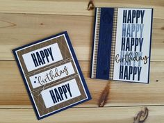 Homemade Birthday Cards, Birthday Cards For Him, Masculine Birthday Cards, Masculine Cards, Homemade Cards, Men Birthday, Boy Cards, Card Making Techniques, Scrapbook Cards