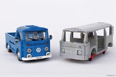 This is probably the last VW transporter of my series, at least for a while... :) It's a  sandblasted T2 bodywork ready to be painted. Here side by side with my VW T2 pick-up.  ItLUG (Italian LEGO User Group) has recently published the story of my VWs and of my VW garage.  Here you can read the complete story: Volks…heaven: tutti i Bulli di Norton74.  All the best!  Norton74 @ LEGO IDEAS Norton74 @ Facebook Norton74 @ Instagram