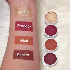 Swatches of the @colourpopcosmetics Zingara eyeshadow collection #eyeshadow #supershockshadow #zingara #colourpop