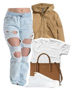 """Untitled #326"" by lowkey-jessel ❤ liked on Polyvore featuring H&M, DKNY and adidas"