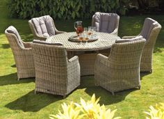 Garden Furniture Set Dining Table Chairs Patio Terrace Coutryard Wicker Rattan