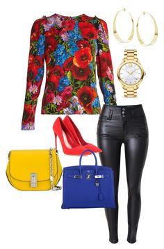 """""""Untitled #550"""" by stylemirror ❤ liked on Polyvore featuring Dolce&Gabbana, Miu Miu, Hermès, Marc Jacobs, Movado and Lana"""
