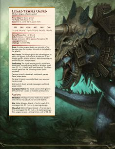 Dnd Dragons, Dungeons And Dragons 5e, Dungeons And Dragons Homebrew, Mythical Creatures Art, Fantasy Creatures, Dnd Character Sheet, Dnd Stats, Dnd Races, Dungeon Master's Guide