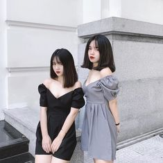Bff Girls, Girls In Love, Foto Best Friend, Best Friend Outfits, Girl Korea, Ulzzang Korean Girl, Girl Outfits, Fashion Outfits, Cute Girl Face