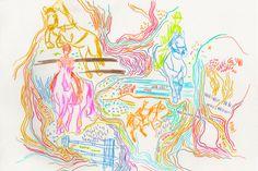 Color Line Variations – Leenykova Color Lines, Princess Zelda, Illustration, Fictional Characters, Art, Art Background, Kunst, Illustrations, Performing Arts