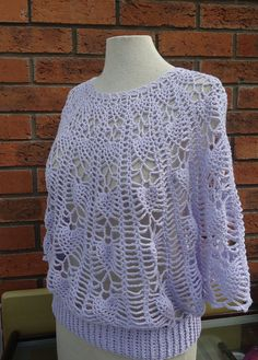 Crochet Women Lace Summer Top Crochet Poncho with by evefashion