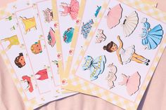 Vintage Paper Doll Themed Party