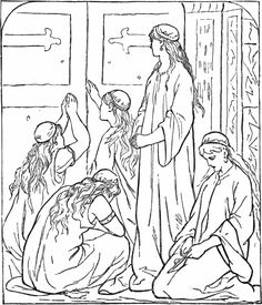 coloring pages 10 virgins - photo#14
