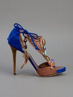 NEW DSQUARED2 AZTEQUE SIZE 7 8 9 10 WOMEN'S SANDALS HEELS SHOES