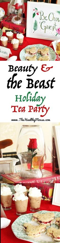 Disney - inspired Beauty & the Beast Holiday Tea Party Ideas and  inspiration // beauty and the beast // beauty and the beast party // beauty and the beast tea party // disney party // disney tea party // beauty and the beast decor // beauty and the beast food // beauty and the beast recipes