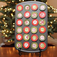 """How to create an """"Unlikely Advent Calendar"""" (using Wishing Well Creations' products)"""
