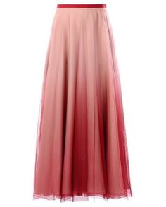 REDValentino Women Ombre Tulle And Silk Skirt