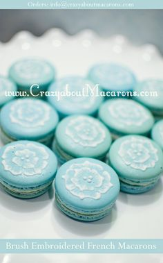 Beautiful! - Two dozen of Brush Embroidered French by CrazyaboutMacarons, $60.00