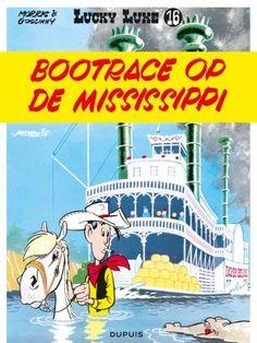 Stofomslag-Lucky LukeNr16 - Bootrace op de Mississipi - Goscinny
