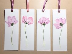 Excited to share the latest addition to my shop: Original painting watercolor painting handmade bookmarks Book lovers gift flower painting cosmos painting Watercolor Bookmarks, Watercolor Cards, Watercolor Flowers, Watercolor Paintings, Original Paintings, Creative Bookmarks, Diy Bookmarks, Bookmark Ideas, Book Lovers Gifts