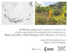 Invitación a la charla y exposición de resultados de residencia de Maria Luisa Vélez y Felipe Rodríguez, Beca @redesmincultura