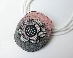 pendant by Jana Kocourkova, polymer clay jewerly
