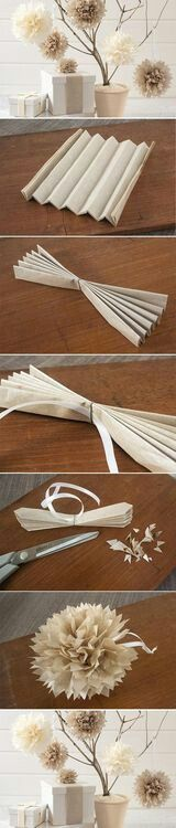 Make your own paper ball flower.