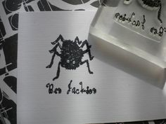 Custom Hairy Spider Olive Wood Stamp by ahueofduckeggblue on Etsy, $18.00