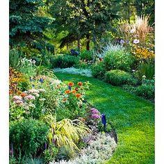 Perennial Border Rock Garden Design, Rock Garden Plants, Cottage Garden Design, Japanese Garden Design, Cottage Garden Plants, Water Garden, Shade Garden, Brick Garden, Cottage Gardens