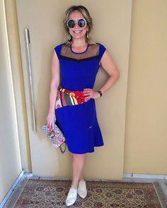 #meulookfeitico - vestido da @estilofeitico com modelagem maravilhosa e adicionei um lencinho colorido na cintura. ❤️ Ficou a minha cara para o almoço de domingo. #andreafialho #estiloandreafialho #estilofeitiço