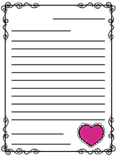 Writing Paper For Kids To Write Friendly Letters  ValentineS