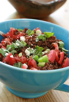 Kaniwa with Lemon,Basil and Tomatoes: Gluten-Free Super food!!  omg-- this is amazing stuff!!  from Ingredients, inc.