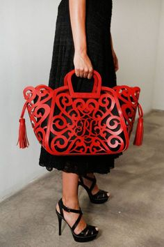 Ralph Lauren SS13. Oh, how I love this bag, even with the obnoxious RL front and center!
