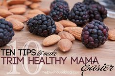 10 Tips to Make Trim Healthy Mama Easier. | Blue House Blog