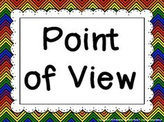 Point of View Posters {1st, 2nd, & 3rd person} Five posters available in nine different designs to match your classroom color scheme! $