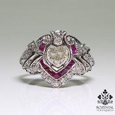 Antique Edwardian Platinum Diamond