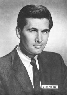 Fess Parker - He was best known as Davy Crockett in the Walt Disney TV series & as Daniel Boone in the TV series. After he retired from acting, ...