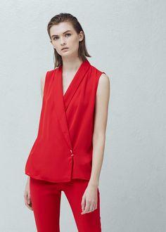 Top detalle metálico - Camisas de Mujer | MANGO