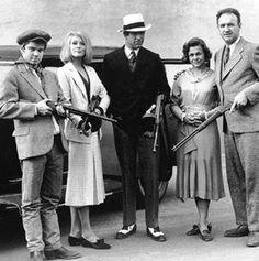 Bonnie and Clyde, with Michael J. Pollard, Warren Beatty, Estelle Parsons and Gene Hackman, 1967