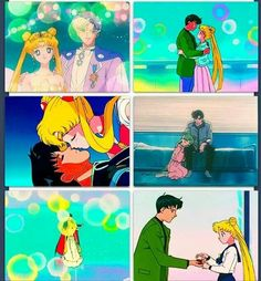 As a kid I remember I wanted to be short next to my man so that I would have to stand on my tippy toes to kiss him like Sailor Moon. It just seemed so romantic and perfect. Sailor Moon Manga, Sailor Moon Art, Sailor Moon Crystal, Sailor Jupiter, Neo Queen Serenity, Princess Serenity, Cartoon Shows, Anime Shows, Studio Ghibli