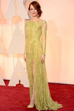 Emma Stone in Elie Saab - Oscars 2015