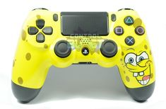 Yellow Sponge PS4 Custom Controller
