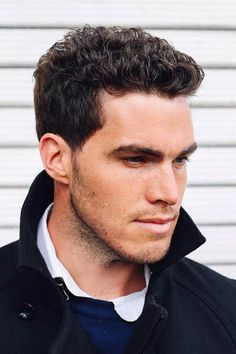 32 Sexiest Short Curly Hairstyles For Men Beach Wawes ★ Short curly hairstyles for guys are often misconstrued as frizzy or hard to tame. Check out our photo gallery of hottest looks for short curly hair for men. ★ See more: Curly Hair Cuts, Short Hair Cuts, Curly Hair Styles, Men With Curly Hair, Men Haircut Curly Hair, Updo Curly, Best Curly Haircuts, Haircuts For Men, Popular Haircuts