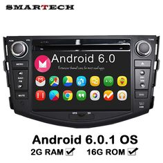 SMARTECH 2G RAM Android 6 Car Multimedia Player Stereo For TOYOTA RAV4 2Din DVD Radio Audio Mirrorlink Touch Screen Bluetooth