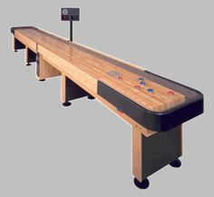 Playcraft Georgetown Shuffleboard Table With In Butcher Block - Playcraft georgetown shuffleboard table