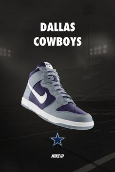 new product 272c4 b3714 Dallas Cowboys Nike Dunk iD Sneakers...must have! Dallas Cowboys Shoes,