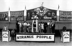 """1940s sideshow in Florida with Johann K. Petursson as """"The Viking Giant"""""""