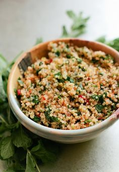 Spicy Carrot and Quinoa Tabbouleh - A Thought For Food