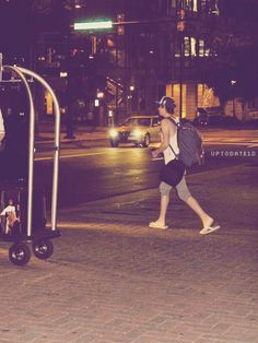 Niall at 3am last night at the hotel