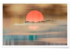 When the sun touches the horizon as Premium Poster by Metron | JUNIQE
