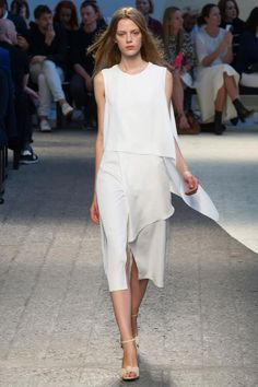 SPORTMAX COLLECTION Spring 2014 RTW  modern minimalist wedding dress #Lula