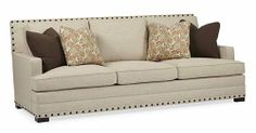 Bernhardt | Cantor Sofa (B6267) - love it, but not sure if I want the nail head trim - W 94 | D 44 | H 38 in