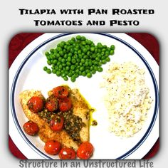 roasted tomatoes pesto dinners forward tilapia with pan roasted ...